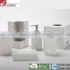 unique white ceramic bathroom accessories china manufacturer