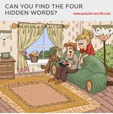 can you find the four hidden words whatsapp puzzles world
