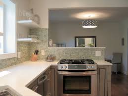 Kitchen Without Backsplash Kitchen Stove In Peninsula Finishes Kraftmaid Cabinets Birch