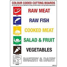 code couleur cuisine code couleur planches à découper de cuisine autocollant sign 148 x