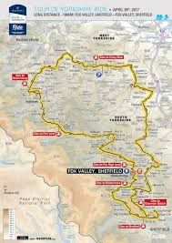 Tour De France Route Map by Route Tour De Yorkshire 3 6 May 2018