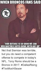 Broncos Defense Memes - when broncos fans said nf tour defense is so good we can win another