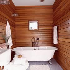Bathtub Stalls Bathroom Bathroom Black Striped Pattern Brown Iron Wood Bathroom