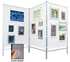 art display wall flourish zig zag meshpanels three panel display