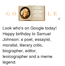 Samuel Johnson Meme - dictionary of the english language samuel johnson look who s on