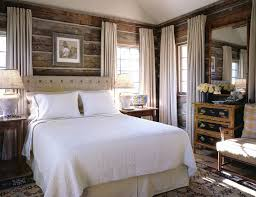 Cabin Style Curtains Cabin Style Curtains With Wood Panel Walls Bedroom Rustic And