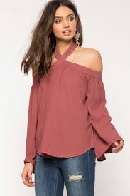 cold shoulder tops women s blouses to me halter cold shoulder top a gaci