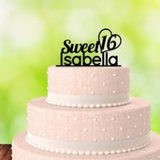 sweet 16 happy birthday cake topper 16th for her by cutsofconfetti