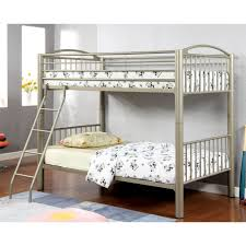 Crib Mattress Bunk Bed by Amazon Com Homes Inside Out Iohomes Metallic Brillia Bunk Bed
