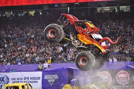 monster truck show anaheim stadium trail mixed memories our first monster jam monster trucks galore