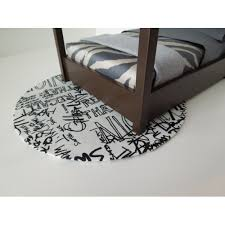 Graffiti Area Rug Modern Dollhouse Furniture M112 Pods Graffiti Area Rug
