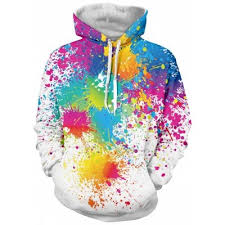 white paint splatter print long sleeve pullover hoodie 3xl 21 07