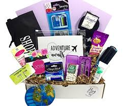 Happy Birthday Gift Baskets Happy Birthday Travel Themed Gift Basket Box For Her The