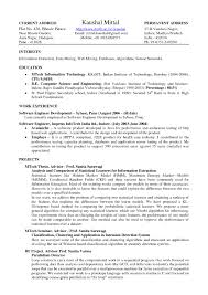 Resume Samples Academic by Latex Resume Format Free Resume Example And Writing Download