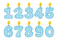number birthday candles number birthday candles stock illustrations 1 489 number
