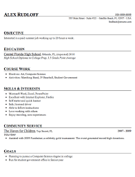 free exle of resume of at college of sciences