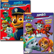 nickelodeon coloring book amazon com paw patrol coloring books 2 pack toys u0026 games
