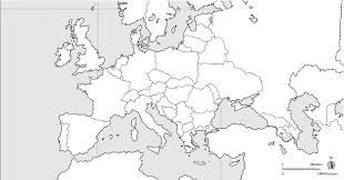 European Union Blank Map by Europe Blank Political Jpg 1 260 661 Pixels Cc C2 Printables