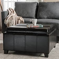 Coffee Table Ottoman Combo Coaster Storage Ottoman Coffee Table With Trays Brown