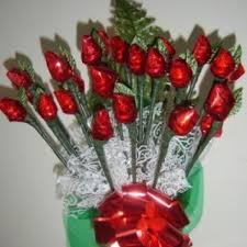 Candy Bouquet Delivery Hershey Chocolate Rosebud Candy Bouquet 2 Dz By Mona U0027s Chocolates