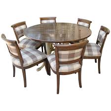 rosewood dining room furniture country french kettering round table and six dudley side chairs by
