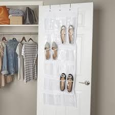 Shoe Closet With Doors The Door Shoe Racks Hanging Organizers You Ll Wayfair