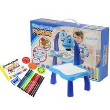 Kids Art Desk With Storage by Kids Activity Table Crafts Play Drawing Storage Block Toys