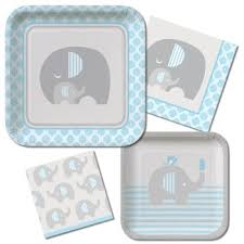 Wild Safari Blue Baby Shower by Wild Safari Baby Shower Paper Plates And Napkins Party At Lewis