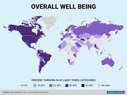 Costa Rica On World Map by Gallup Healthways 2014 Well Being World Map Business Insider
