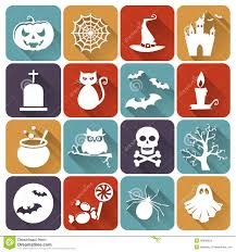 free halloween icon halloween flat icons vector set stock vector image 43866624