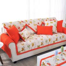 sofa cover slip proof square rectangle polyester and cotton floral print sofa