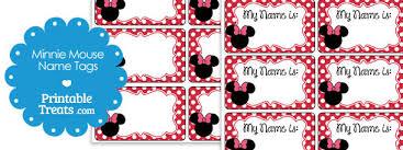 printable minnie mouse tags u2014 printable treats