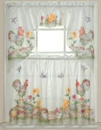 Sunflower Kitchen Curtain by Buy 3pc Rooster Sunflower Butterfly Kitchen Cafe Curtain