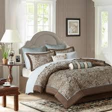 Jacquard Bed Set Whitman Jacquard Comforter Set Blue 12pc Target
