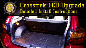 subaru crosstrek interior trunk subaru crosstrek best led upgrade detailed install