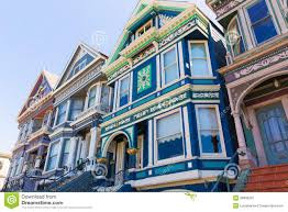 Victorian House San Francisco by San Francisco Victorian Houses In Haight Ashbury California