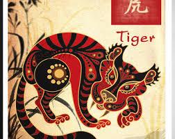 japanese tiger etsy