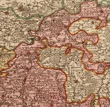 Ruby Map 17th Century Antique Map Of Luxembourg And The Surrounding Area
