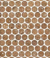 Cork Backsplash Tiles by Corkdotz Brown Mosaic Tile Kitchen Backsplash Cork And Mosaics
