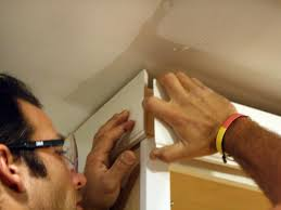 How To Install Upper Kitchen Cabinets How To Install Cabinet Crown Molding How Tos Diy