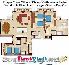 disney world floor plans wilderness lodge villas floor plan lovely 3 bedroom villa disney