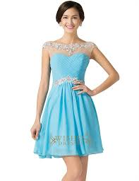 royal blue chiffon short cocktail dress prom dress homecoming
