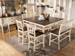 Counter Height Dining Room Furniture Transitional Breakfast Room With Bar Height Table White Dining