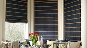 Roman Shades Over Wood Blinds Woven Wood Shades Hunter Douglas