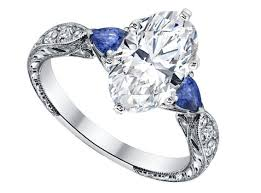 diamond engraved rings images Engagement ring oval diamond engagement ring blue sapphire pear jpg