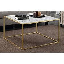 Marble Coffee Table Convenience Concepts Gold Coast Faux Marble Coffee