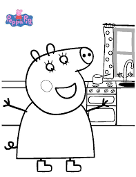peppa pig coloring pages coloring pages kids
