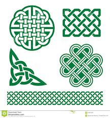 celtic irish patterns and knots st patrick u0027s day stock