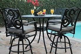 Patio Set With Swivel Chairs Bar Height Patio Furniture Sets Foter