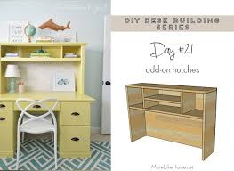 Diy Desk Hutch More Like Home Diy Desk Series 21 Add On Hutches For Any Desk